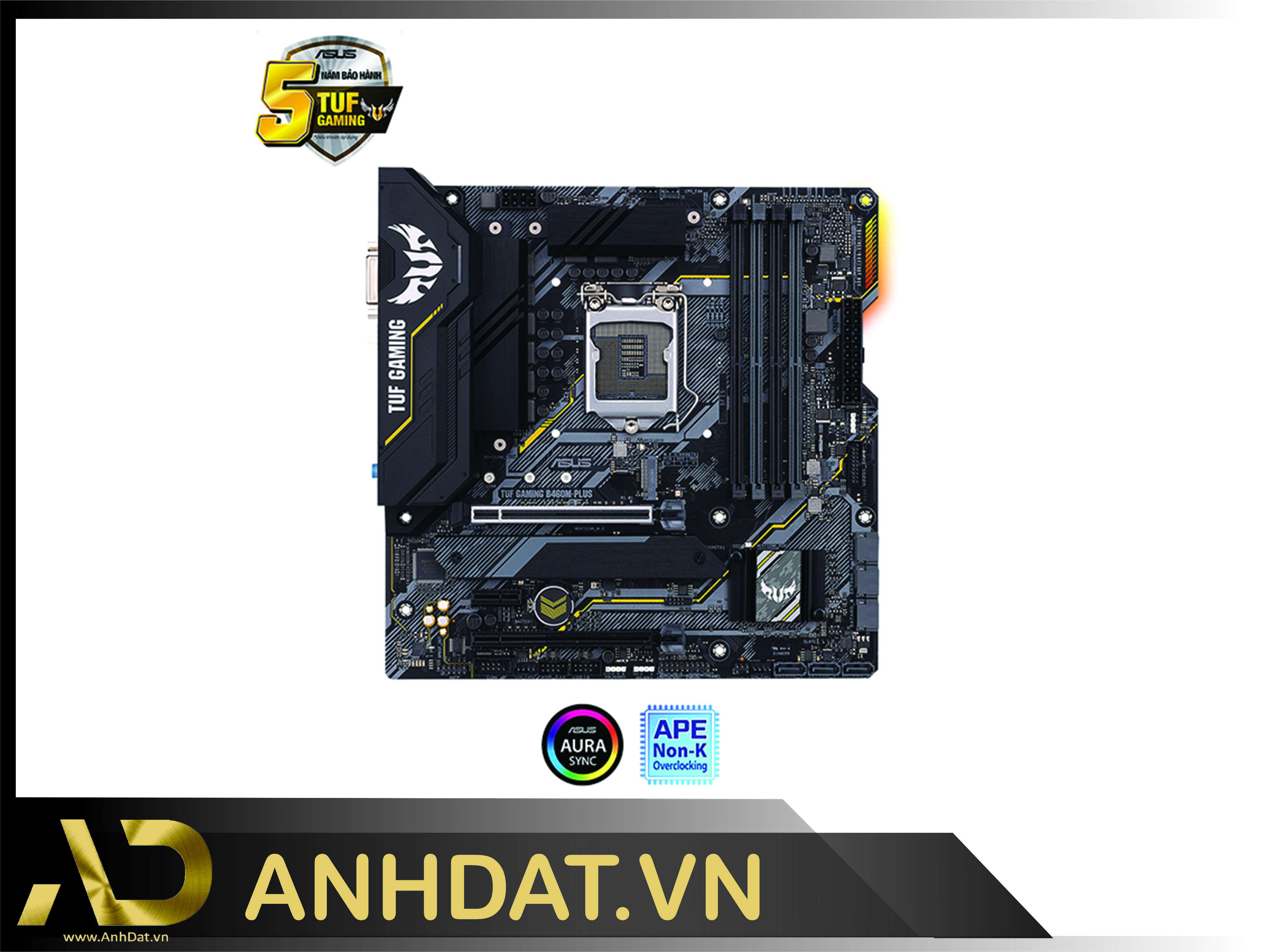 Mainboard ASUS TUF GAMING B460M-PLUS (Intel B460, Socket 1200, m-ATX, 4 khe Ram DDR4)